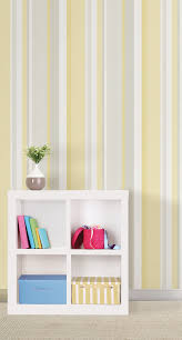 Peel And Stick Wallpaper by Yellow Awning Stripe Peel And Stick Wallpaper Nu1403 U2013 D Marie