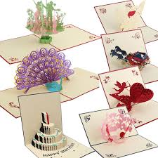 wholesale 3d handmade pop up greeting cards happy birthday wedding