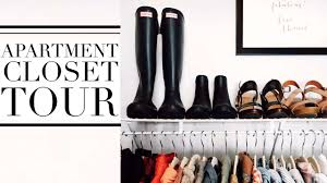 Organize Apartment by College Apartment Closet Tour How I Organize My Clothes Youtube