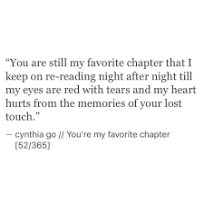 you u0027re my favorite chapter sad poem and thoughts