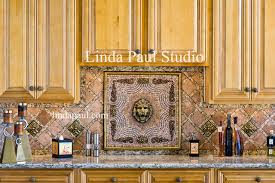 Imperial Lion Head Kitchen Backsplash Medallion And Design - Kitchen medallion backsplash