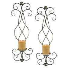 Wall Sconce Set Of 2 Aspire Home Accents Estelle Candle Wall Sconce Set Of 2