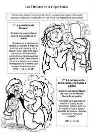 imagenes de virgen maria infantiles el rincón de las melli los siete dolores de la virgen maria para