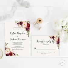 bohemian wedding invitation suite fall wedding invitation