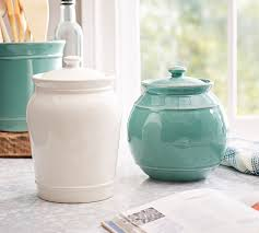 pottery canisters kitchen cambria canisters pottery barn