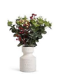 Plant Vase Single Stem Artificial Flowers U0026 Plants M U0026s
