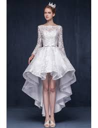 wedding dresses high luxury lace high low wedding dresses with sleeves 2017 a line