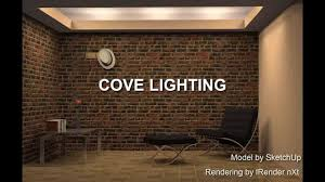 how to build cove lighting cove lighting exle modeled with sketchup youtube