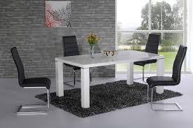 White Gloss Dining Tables And Chairs 20 Inspirations Hi Gloss Dining Tables Sets Dining Room Ideas