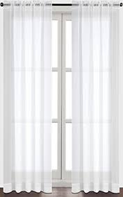White Cotton Curtains Sheer Cotton Curtains Amazon Com
