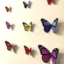 3d butterfly wall art roselawnlutheran 3d butterfly wall stickers wall decors wall art wall decorations