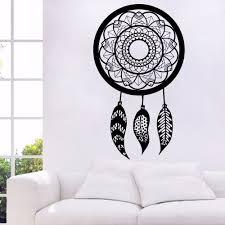 Om Wall Decal Mandala Vinyl by Dream Catcher Wall Decals Mandala Decal Feather Bedroom Decor Boho