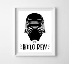 Star Wars Room Decor Etsy by Star Wars Star Wars Poster Kylo Ren The Force Awakens Kylo