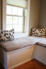 Cushions For Window Bench Custom Window Seat And Upholstered Cushions For Master Bedroom