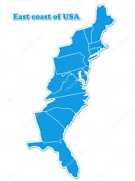 Maps De Usa by Usa East Coast Map U2014 Stock Photo Lina0486 14358735