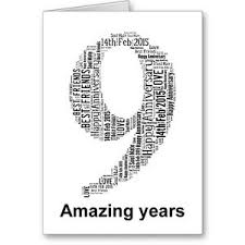 ninth anniversary gifts personalised printed typographic ninth 9th anniversary card gift