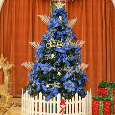 Christmas Tree With Blue Decorations - 59 high royal blue ornaments pvc material christmas tree
