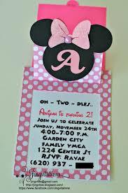 Minnie Mouse Invitation Card Jingvitations Minnie Mouse