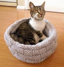 Cat Bed Pattern Cat Bed Knitting Pattern By Sarah Taylor