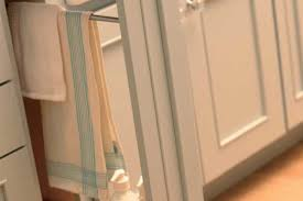 kitchen cabinet towel rack kitchen towel racks hidden near the sink kutskokitchen