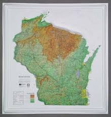 topo maps wisconsin raised relief maps 3d topographic map us state series