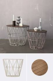 wire and wood basket side table these wire baskets are great for everything love that they turn