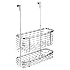 Cabinet Baskets Storage Interdesign Axis Over The Cabinet Storage Basket In Chrome 56170