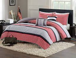 Teen Queen Bedding Red Black White Striped Teen Boy Bedding Twin Xl Full Queen