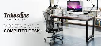 Sturdy Office Desk Tribesigns Modern Computer Desk 47 Office Desk