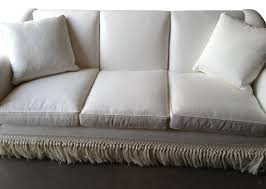 All Modern Sofa by Ebanista White Sofa With Fringe Bottom Modern Furniture And