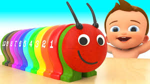 video for kids youtube kidsfuntv learn colors and numbers for children with baby wooden caterpillar