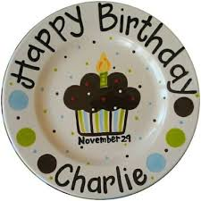 personalized ceramic plates ceramic birthday plate painted personalized