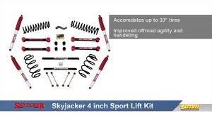 jeep jk suspension diagram skyjacker 4 inch sport lift kit for jeep wrangler youtube