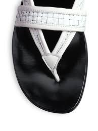 calvin klein liann woven flat sandals in white 28 images