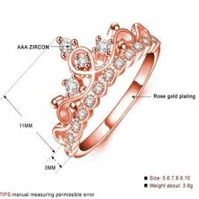 rose color rings images Exquisite crown in the shape of a ring of rose gold color cz rings jpg