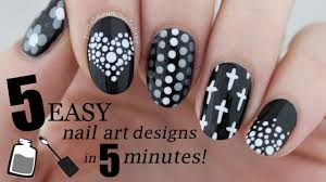 five in five easy black u0026 white nail art designs nailed it nz
