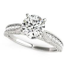 antique design rings images 14k white gold round pronged antique design diamond engagement jpg