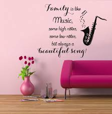 Music Note Wall Decor Music Notes Wall Decals Quote Family Is Like By Decalmyhappyshop
