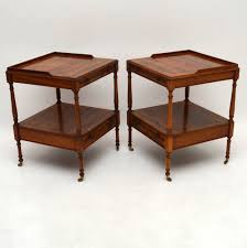 Yew Side Table Pair Of Antique Yew Wood Side Or L Tables Marylebone Antiques