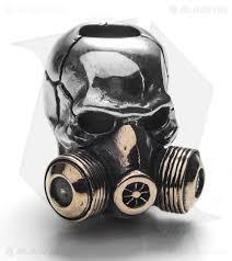 bead mask gd skulls gas mask skull bead bronze silver blade hq