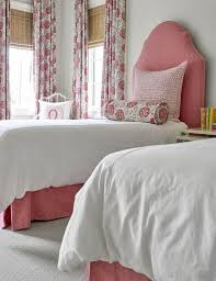 White Twin Headboards by Pink Arch Twin Headboard With Matching Bed Skirt Traditional