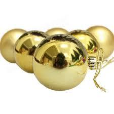 6pcs tree baubles golden ornaments spark pendants