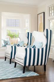 Blue Wingback Chair Design Ideas Striped Chairs Living Room Coma Frique Studio 75a8bfd1776b