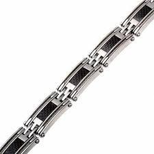 mens black link bracelet images Men 39 s black carbon and cable link bracelet in stainless steel jpg