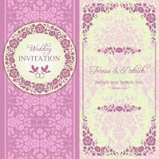 wedding invitations vector ornate pink floral wedding invitations vector 02 welovesolo