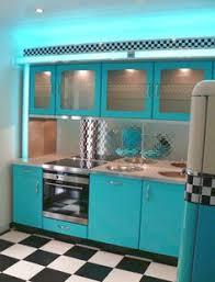 küche 50er nostalgie mikrowelle im stil der 50er jahre küche