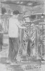 seoul urban sketchers jean shop sketch