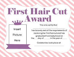 my first haircut certificate printable return mailing labels free