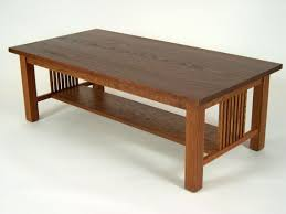 craftsman style coffee table mission oak arts crafts stickley style coffee cocktail table