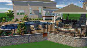 backyard designs with pool and outdoor kitchen raleigh landscape design 3d pool u0026 spa services choice p u0026s